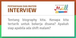 interview mataharimall.com