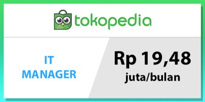 gaji manager IT tokopedia