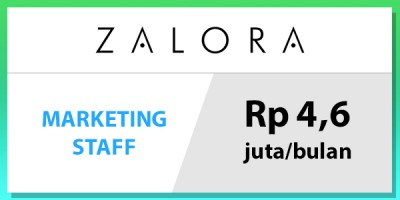 gaji staff marketing zalora