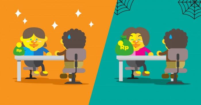 perusahaan besar dengan gaji kecil atau perusahaan kecil dengan gaji besar